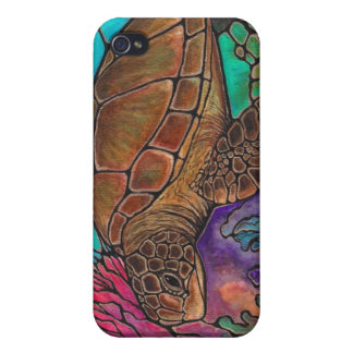 Sea Turtle Art...awesome stained glass style! iPhone 4/4S Case