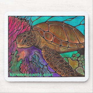 Sea Turtle Art...awesome stained glass style! Mouse Pad