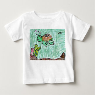 sea turtle art baby T-Shirt