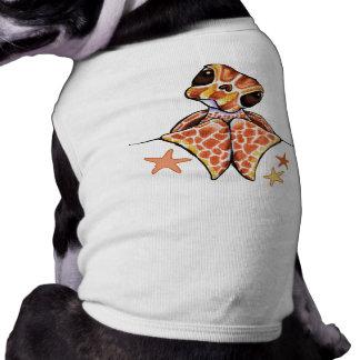Sea Turtle Baby Brown Starfish Sleeveless Dog Shirt