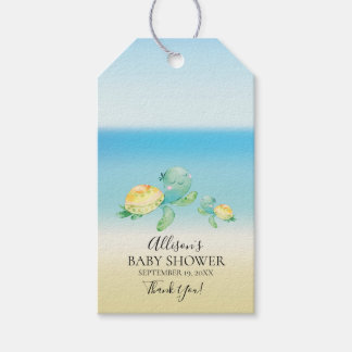 Sea Turtle Baby Shower Favor Gift Tag