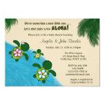 Sea TURTLE Baby Shower Invite YELLOW (Honu) 03B
