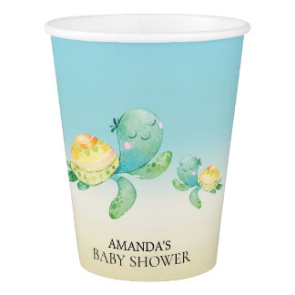 Sea Turtle Baby Shower Paper Cup