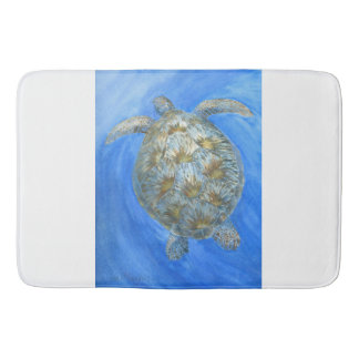 Sea turtle bath mats