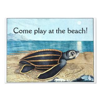 Sea turtle birthday bash 13 cm x 18 cm invitation card