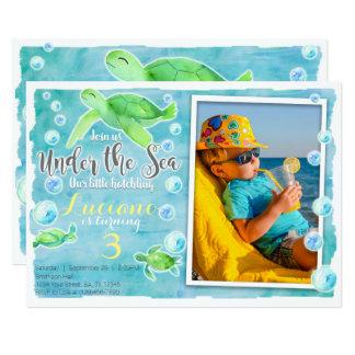 Sea Turtle Birthday Invitation