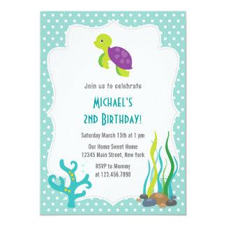 Sea Turtle Birthday Party Invitation