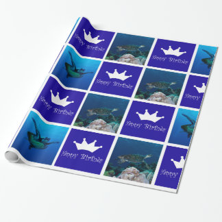 Sea Turtle Birthday Wrapping Paper