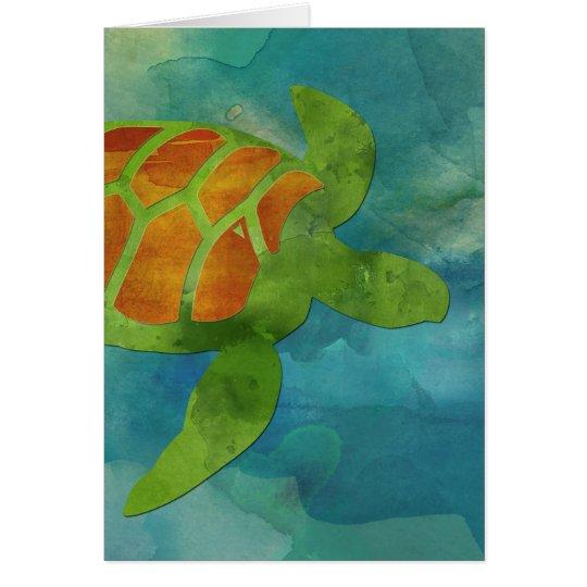 Sea Turtle Blank Notecard