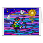 Sea Turtle (blue / pink) Card