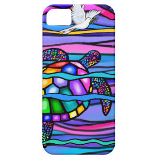 Sea Turtle (blue / pink) iPhone 5 Cover