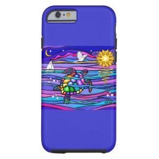 Sea Turtle blue pink iPhone 6 Case