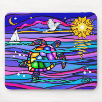 Sea Turtle (blue / pink) Mouse Mat