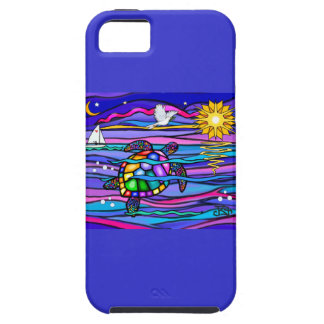 Sea Turtle (blue / pink) Tough iPhone 5 Case