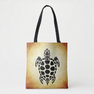 Sea Turtle Brown Tote Baf