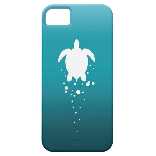 Sea Turtle & Bubbles Against Blue-Green Ocean iPhone 5 Cases