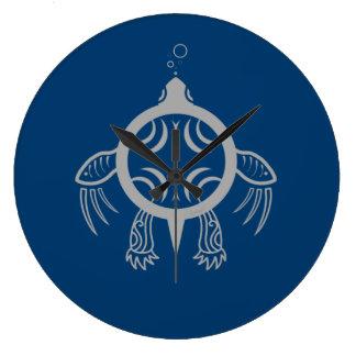 Sea Turtle Bubbles Wall Clock