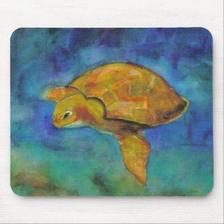 Sea Turtle by Paula Atwell Mouse Mat