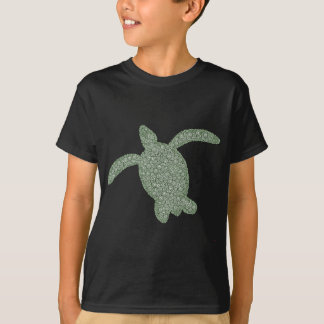 sea turtle children's dark shirt