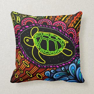 Sea Turtle Colorful Throw Pillow