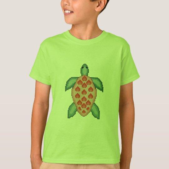 Sea Turtle Cross Stitch T-Shirt