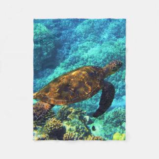 sea turtle fleece blanket