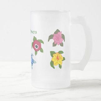 Sea turtle flowers mug