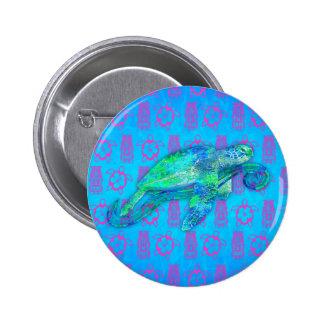 Sea Turtle Graphic 6 Cm Round Badge