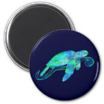 Sea Turtle Graphic 6 Cm Round Magnet