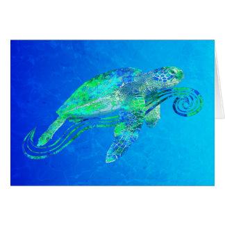 Sea Turtle Graphic Card
