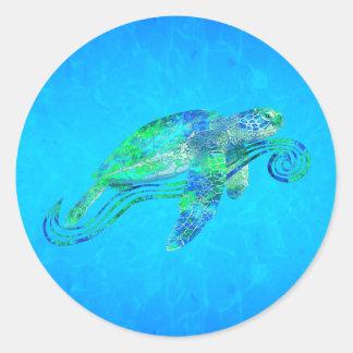 Sea Turtle Graphic Classic Round Sticker
