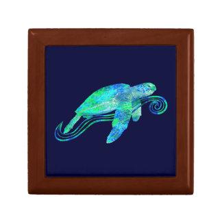 Sea Turtle Graphic Small Square Gift Box
