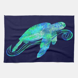 Sea Turtle Graphic Tea Towel