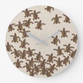 Sea Turtle Hatchlings Wall Clock