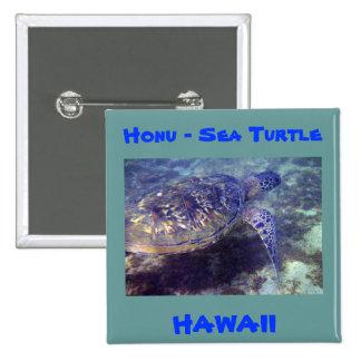 Sea Turtle Hawaii button 2 Inch Square Button