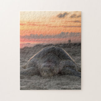 Sea Turtle in the Sand Jigsaw Puzzle