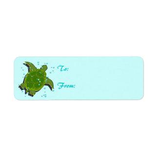 Sea Turtle Labels