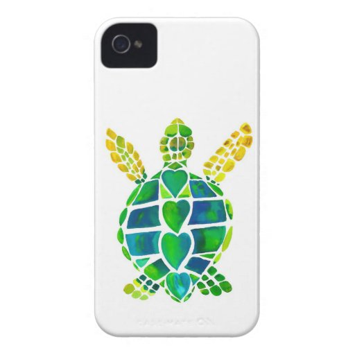 Sea Turtle Love Collection iPhone 4 Cover