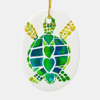 Sea Turtle Love Collection Christmas Ornament