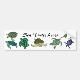 Sea Turtle Lover bumper sticker