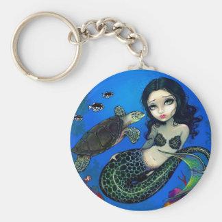 Sea Turtle Mermaid Key Ring