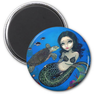 """Sea Turtle Mermaid"" Magnet"