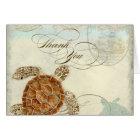 Sea Turtle Modern Coastal Ocean Beach Swirls Style Card