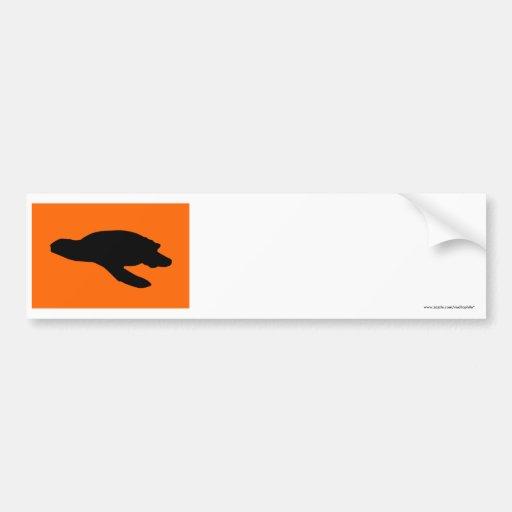 Sea Turtle Nesting Flag Bumper Sticker
