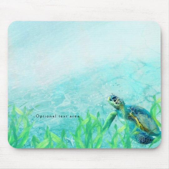 Sea Turtle Ocean Beach Art Tropical Custom Mouse Mat