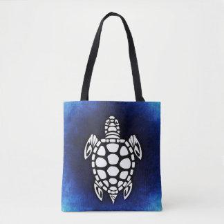 Sea Turtle Ocean Blue Tote Bag