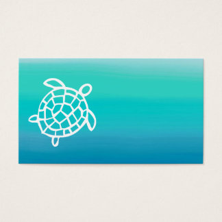 Sea Turtle Ocean Watercolor Business Cards