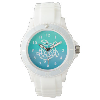 Sea Turtle Ocean Watercolor Wrist Watch