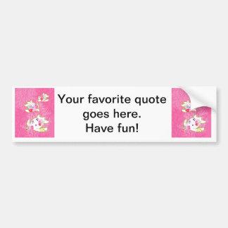 Sea turtle on pink background. car bumper sticker