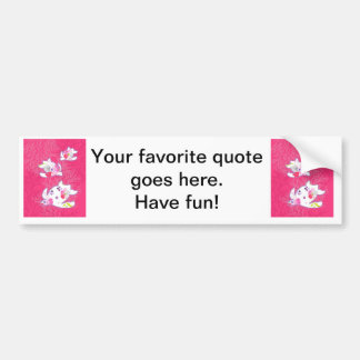 Sea turtle on pink background bumper stickers